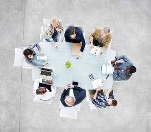 Group Of  Business People at Meeting Table